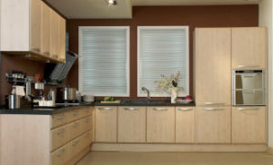 MDF White PVC Kitchen Cabinet Furniture (zc-054) pictures & photos