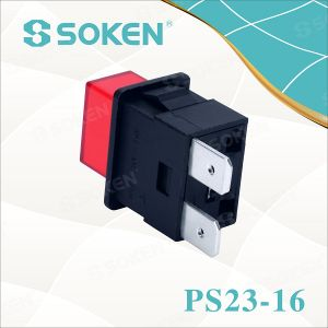 Soken Spst Power Strip Latching Push Button Switch pictures & photos