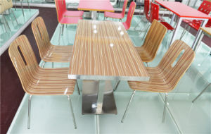 Modern Cafe/Restaurant Dining Table and Chair Set (FOH-CXSC55) pictures & photos