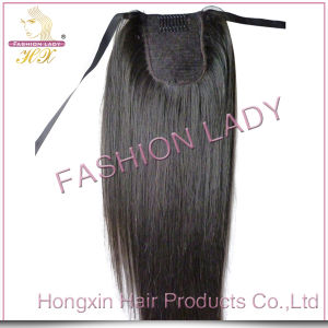 Remy Straight Clip in Human Hair Ponytail Hair Extension