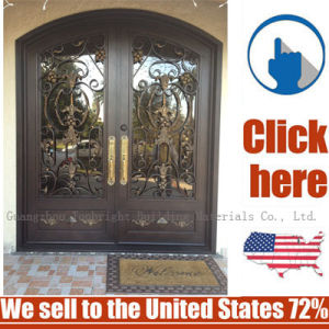 Cheap Price Steel Wrought Iron Door Gate pictures & photos