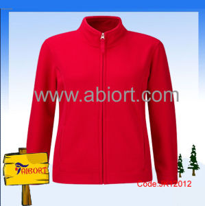 Women 100% Polyester Polar Fleecy Fit Jacket (JK12012)