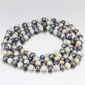 Snh 60inches Long Fashion Freshwater Pearl Necklace