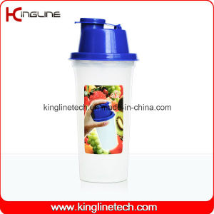 400ml Plastic Protein Shaker Bottle with Filter (KL-7047) pictures & photos