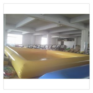 Beautiful Air-Sealed Yellow Color Inflatable Water Pool pictures & photos