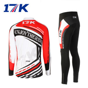 17k Long Men Cyclling Apparel Made in China with Sublimation Printing