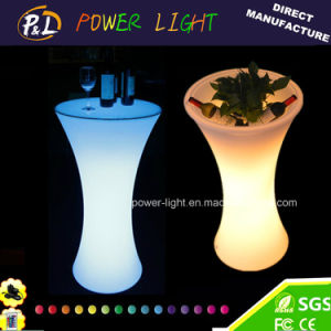 IP65 LED Illuminated High Plastic Table pictures & photos