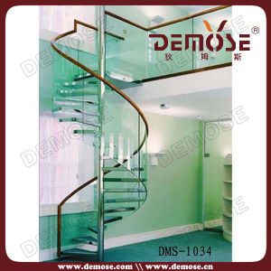 Adjustable Safety Glass Circle Stairs (DMS-1034)