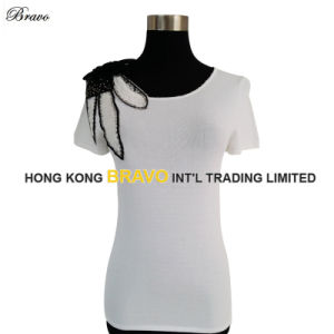 Ladies Knitwear Pullover with Beading (BR083)