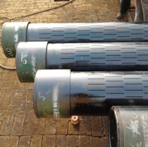 13 3/8inch J55 Seamless Slotted Pipe with Threads Coupling/Slotted Screen pictures & photos