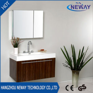 Hot Sell Wall Mounted Melamine Teak Bathroom Furniture pictures & photos