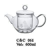 New Design 600ml Glass Coffee Pot / Pyrex Glass Teapot, Hot Sale High Quality Glass Teapots, Kettles with Handle