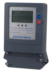 Three Phase Electronic Multi-Rate Watt-Hour Meter pictures & photos