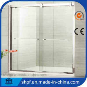 304#Ss Frame Self-Cleaning Glass Simple Shower Room