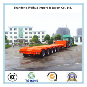 150t Heavy Equipment Low Bed Semi Trailer with Hydraulic Gooseneck pictures & photos