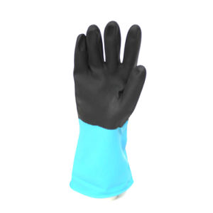 Household Latex Gloves (Blue/Black) pictures & photos