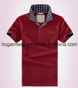 Men′s Polo T-Shirt, Cotton Colorfully Shirt for Man pictures & photos