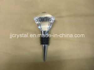 The Diamond Shaped Crystal Head Glass Wine Stopper pictures & photos