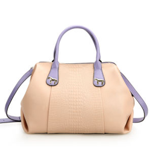 Nice Design PU Leather Crocodile Pattern Handbag for Lady (XD140048)