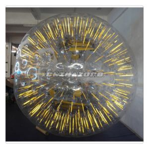 Top Quality PVC/TPU Yellow Color Shining Inflatable Zorb Ball pictures & photos