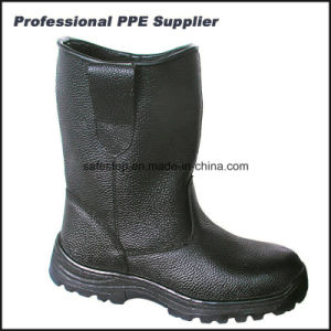 Genuine Leather Rubber Outsole Steel Toe Security Boots pictures & photos