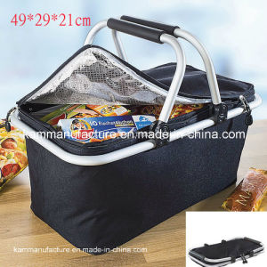 Collapsible Insulated Picnic Basket pictures & photos