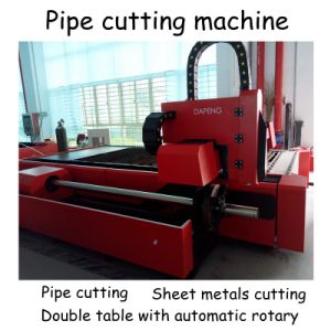 Metal Pipe Cutting Machine with Double Working Table and Automatic Rotary pictures & photos