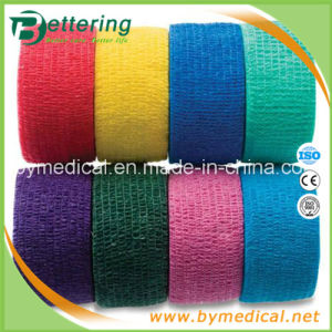 """1"""" Width Non Woven Cohesive Bandage with Mixed Colour pictures & photos"""