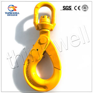 Forged Alloy Steel Self Locking G80 Swivel Safety Hook pictures & photos