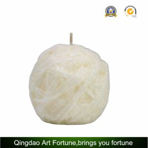 Carved Ball Shape Candle with Embossed Texture Pattern for Home Decoration pictures & photos