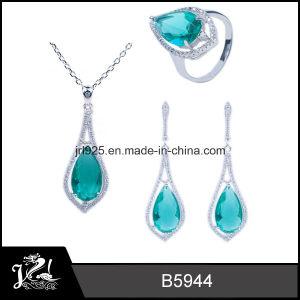 Sterling Silver Jewelry, Glass Green Fashion Jewelry, New Jewelry (B5944)