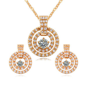 New Arrival Alloy Women′s Hot Gold Jewelry Set