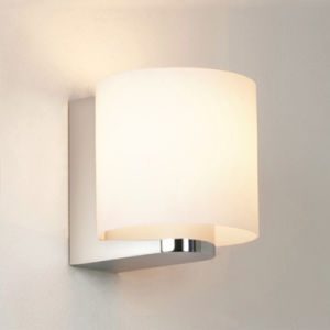 Modern Opal Glass Chrome IP54 Waterproof Outdoor Passage Bathroom Round Wall Lamp