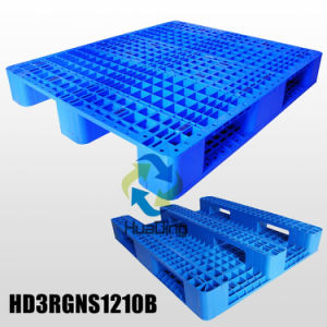 L1200*W1000*H155mm HDPE/PP Plastic Pallets; 3 Runners; Open Deck; with Steel Tubes pictures & photos