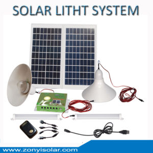 Solar Light System with LED Light and FM Radio Function Mobile Charger pictures & photos