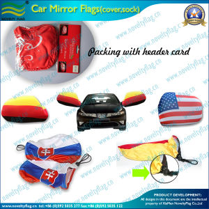 Car Side Mirror Cover Flag with En71 Certification for Advertising or Promotion (NF13F14010) pictures & photos
