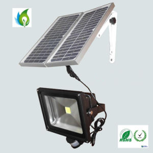 50W Solar LED Flood Light with PIR Motion Sensor pictures & photos