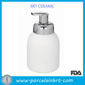 White Foam Ceramic Shapoo Bottle for Sale pictures & photos