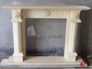 Beige Marble Carved Fireplace for Indoor Decoration pictures & photos