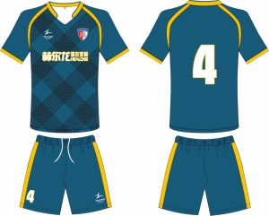 Healong Knitted Sublimation Cheap Wholesale Soccer Jersey pictures & photos