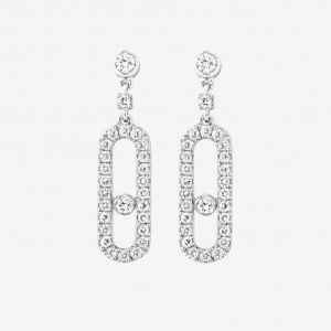 New Fashion 925 Sterling Silver Dangle Earrings Move Diamond pictures & photos