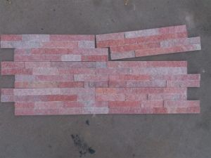 Dark Pink Quartzite Wall Panel Stack Stone (SSS-104) pictures & photos