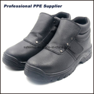 Hight Cut Men′s Welder Safety Shoes with Steel Toe pictures & photos