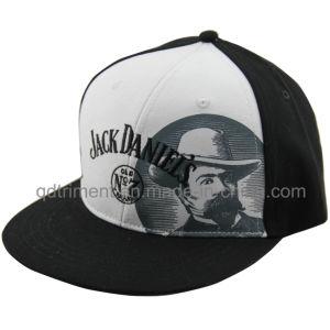 Flat Bill Screen Print Embroidery Baseball Snapback Cap (TMFL7317-2) pictures & photos