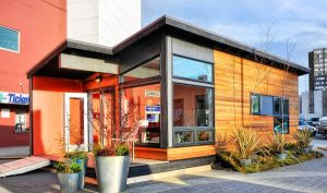 Noble Sandwich Panel Prefab Container House with Bathroom pictures & photos