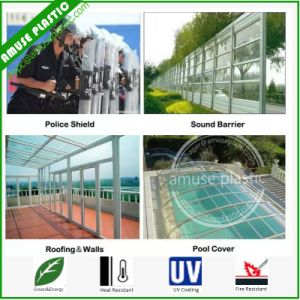 Plastic Building Material 100% Bayer Polycarbonate Sheets Applications PC Boards pictures & photos