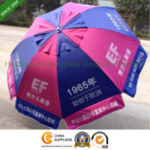 2.5m Double Canopy Outdoor Beach Umbrella for Advertising (BU-0060WD) pictures & photos