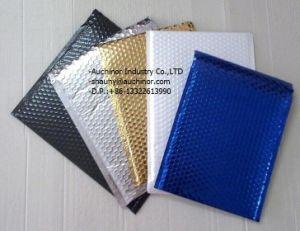 Strong Adhesive Customized Black Metallic Bubble Mailer for Packaging pictures & photos