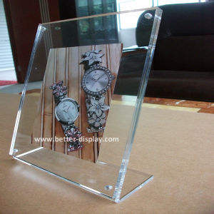 Custom Clear Acrylic Poster Frame with Logo (BTR-U1002) pictures & photos