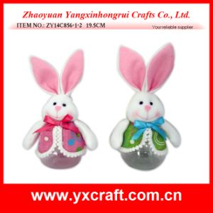 Easter Decoration (ZY14C856-1-2) Point Fabric Easter Bunny Sweetie Bottle pictures & photos